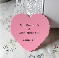 Wholesale Single page Type Heart Card Personalized Wedding Favor Cards Party Decoartion