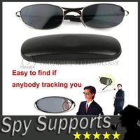 spy glasses - DHL FREE Anti Track UV Protection Anti Tracking Device Anti UV Spy Sunglasses with Protective Case Rearview Mirror Glasses