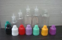 Wholesale PET dropper bottles with childproof safety cap and long thin dropper tip ml ml ml ml ml e liquid bottles Excellent Quality