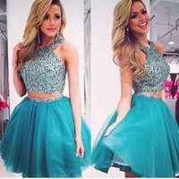 semi formal dress - 2016 New Homecoming Dresses Cheap Two Pieces Semi Formal Dresses Homecoming Vestido short mini Prom Dress juniors Cocktail Gown Party Gowns