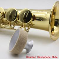 Wholesale Saxophone Mute Silencer Metal Dampener Light weight Aluminum Design for Soprano Saxophone Sax Retail