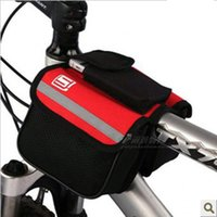 bicycle side baskets - Double Sides Bicycle Basket Front Tube Bags MTB Bicycle Bike Frame Saddle Bag Pannier Front Cycling Outdoor Traveling Road Bag