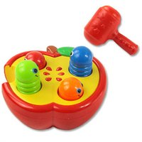 Wholesale Play hamster infant toys Knock fruit insect in apple Good Quality