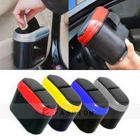 Wholesale Mini Car Dustbin Trash Multi color Hook Garbage Dust Box Case Holder Convenient Rubbish Can