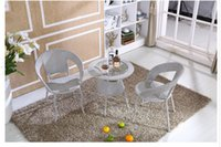 balcony furniture sets - High quality rattan chairs tea table A three piece indoor outdoor rattan furniture sets the balcony chairs and tables