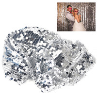 table runner - Wedding Party Centrepiece Decoration Sparkling Silver Bling Sequin Table Runner Cloth For Guest Gift Table