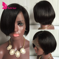 african bank - Brazilian Glueless Lace Wigs African American Full Lace Short Wigs For Black Women Human Hair Lace Front Wigs Bobs