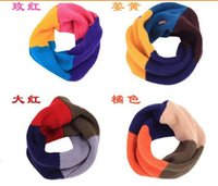 Wholesale 10 baby boys and girls Candy Winter Knitting Woolen Baby Kids Infinity Scarf Circle Neck Collar Loop Shawl