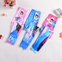 Wholesale Girls Leggings Cartoon Frozen Fever leggings New children anna and elsa clothing girls leggings long trousers color