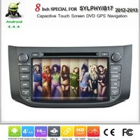 Wholesale Pure Android Car DVD GPS For Nisaan B17 SYLPHY With Inch Screen BT G WIFI SWC OBD Mirror Link DVR Camera Optional