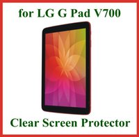 Wholesale 3pcs Transparent LCD Screen Protector for LG G Pad V700 inch Tablet PC Protective Film