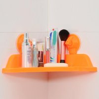 Wholesale Bathroom Rack holder Wall mounted Sucker Bathroom Storage Wall Shelf Organizer Rack
