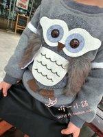 al por mayor suéter de las muchachas del búho-Wholesale-niñas otoño e invierno suéter niños y niñas capa gruesa jersey de cachemir mayor de OWL sweatershirt cartton