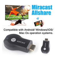Wholesale New arrival ezCast Dongle TV stick DLNA Miracast Airplay MirrorOP better than chromecast support windows ios andriod