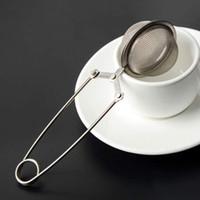 al por mayor té de hoja suelta-Nuevo infusión de acero inoxidable de té / filtro / tamiz / bola para el té de hoja suelta ventas calientes [FG08118 * 12]