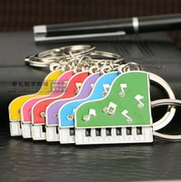 beethoven music - 2015 new creative keychain Beethoven piano sonata music musical notes keychain key ring High quality