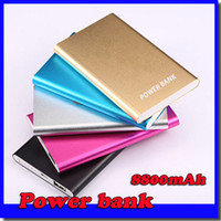 Wholesale Ultra thin slim powerbank mah xiaomi power bank for mobile phone Tablet PC External battery