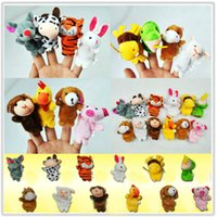 Wholesale Baby Soft Toys Finger Toys Baby Toys Animal Finger Puppets plush Cloth Doll Baby Educational Hand Toy Kid Random Hot Cute Animal M