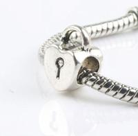 Metals antique heart lockets - MIC x12 mm Antique Silver Heart Locket Alloy Metal Big Hole Beads Fit European Charm Bracelets L1271