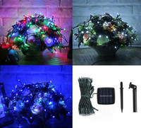 automatic power strip - 10 Meters LED Strip Automatic Garden Waterproof Christmas Party String Fairy Deco Lamp Outdoor Solar panel Powered Light