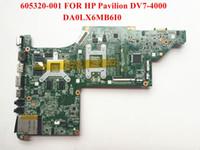 ordinateur portable carte mère gros-original pour HP Pavilion DV7-4000 carte mère 605320-001 DA0LX6MB6I0 HM55 HD5650 / 1GB soutien I7 CPU uniquement Top