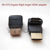 Wholesale HDMI to HDMI Adapter Male to Female Coupler Extender Adapter Connector Degree Right Angel HDMI Adapter V7