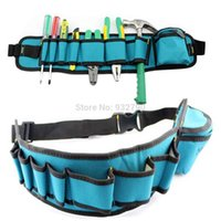 Wholesale Waist Carpenter Rig Hammer Tool Bag Pockets Electrician Tool Pouch Holder Pack Canvas Electrical Repair Pockets Waterproof New order lt no t