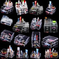 acrylic storage cabinet - New Clear Makeup case drawers Cosmetic Organizer Jewelry storage Acrylic cabinet Box