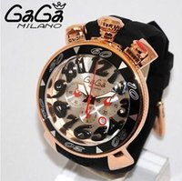 Wholesale The new Italian Gaga watch fashion Gaga quartz watch six pin unisex big dial mm super D numbers hot gaga milano watches