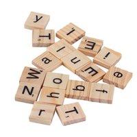 alphabet tiles - Wooden Alphabet Scrabble Tiles Black Letters amp Numbers For Crafts Wood Promotion