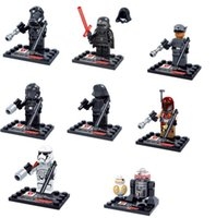Wholesale NEW Hot fashion Cartoon movie toys Star Wars Darth Vader clone troopers R2 D2 BB The Force Awakens model Building Block Toys style cc69