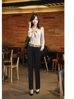 Cheap Free shipping,Sexy Women Fashion Skinny Long Trousers OL Casual Slim Bow,Suit Pant for lady