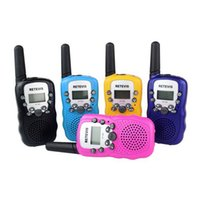 Wholesale Pair of T Lovers Talking Mini KM Handheld quot LCD Screen Walkie Talkie Two Way Radio with Flashlight