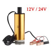 Wholesale Hot Sale Aluminum Golden DC V V Diesel Water Oil Fuel Transfer Refueling Pump Car Camping Fishing Diving Submersible Oil P