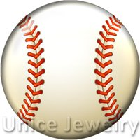 baseball bracelets diy - AD1301233 mm Snap On Charms for Bracelet Necklace Hot Sale DIY Findings Glass Snap Buttons Jewelry Baseball Design noosa