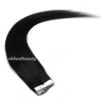 Wholesale Premium Tape in Skin Weft Remy Human Hair Extensions quot quot quot quot quot set Jet Black
