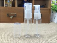 Wholesale 10ml Travel Refillable DIY pet foaming bottle clear Plastic pump lotion bottle cream bottle