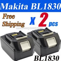 Wholesale 2 Pieces x New Makita V Compact Lithium Ion Battery BL1830 for Cordless drill order lt no track
