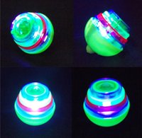 Wholesale The new LED Lighted Toys colorful light music gyroscope flash light emitting gyro children toys