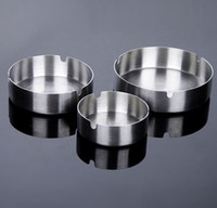 Wholesale New stainless steel made hot popular ASHTRY Ashtrays Brief style awesome stainless steel ashtray Ashtrays