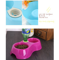 24.5CM Feeding & Watering Supplies Universal Free Shipping High Quality Dual Port Dog Utensils Bowl Cat Drinking Fountain Food Dish Pet Bowl Automatic Water Dispenser Feeder