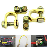Wholesale New Replacement Auto Car Battery Terminal Clamp Clips Brass Connector order lt no track