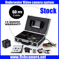 Wholesale 60m Underwater Video fish Camera underwater cctv camera with quot LCD Colour digital Monitor Screen