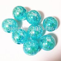 ab necklace - MM turquoise blue Gumball Bubblegum Acrylic clear AB Crack Beads Colorful Chunky Beads for Necklace Jewelry