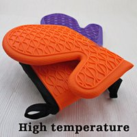 Wholesale Heat Resistant Silicone Cooking Baking Oven Pot Holder Non slip Gloves Microwave Oven Non slip Mitt Convenient