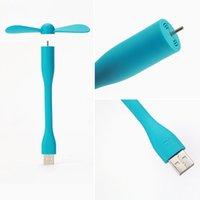 Wholesale Free DHL New Arrival Xiaomi fan style Mini Flexible USB Fan For Heat Summer Outdoor Home Charge Portable Power Bank Fan for Laptop Desktop