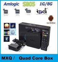 Wholesale 5pcs MXQ Kodi TV BOX Amlogic S805 Quad Core XBMC Media Player Android GB GB Google Smart Mini PC