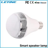 base speakers - Wireless Bluetooth Speaker E27 Base Music Player Smart Sound Box RGB Colors smart LED Light Bulb High Quality