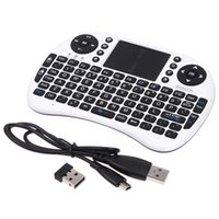 Wholesale DHL Free Rii Mini i8 Fly Air Mouse WIFI Wireless Mouse Pad Keyboard With Touchpad Remote Control Flymouse For Andriod TV BOX Play Game Black