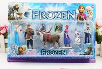 Wholesale Frozen Piece PVC action Figure Play Set Anna Elsa Hans Kristoff Sven Olaf kid s gift toy